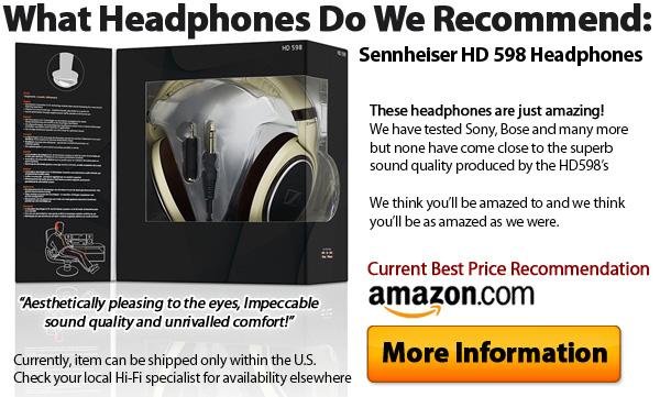 Sennheiser HD 598 Audiophile Headphones with High Gloss Burl Wood Accents